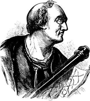 Amerigo Vespucci vintage illustration