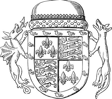 Shield of Jaspar Tudor are second son of Queen Catherine and Owe