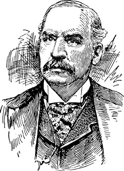 J. P. Morgan vintage illustration