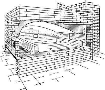 Reverbatory Furnace vintage illustration.
