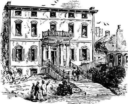 The Province House vintage illustration.