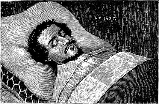 William Shakespeare vintage illustration