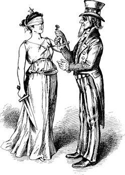 Uncle Sam, vintage illustration