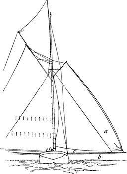 Shadow Sail, vintage illustration.