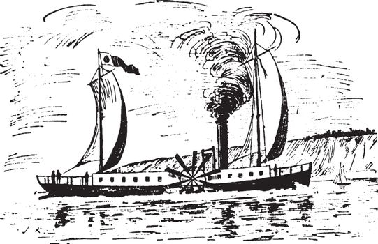 Clermont, vintage illustration.