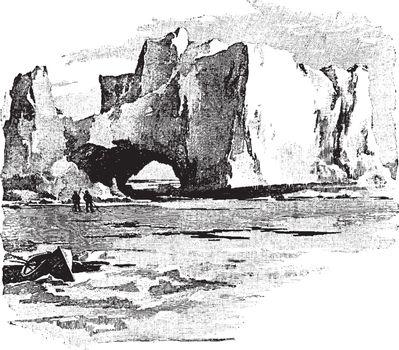 Ice Field, vintage illustration.