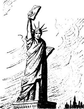 Liberty In Bonds vintage illustration
