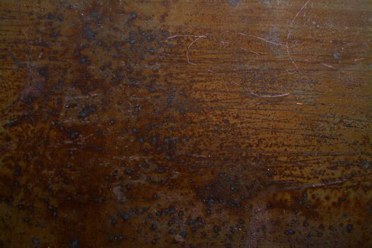 Detailed texture of old rusty iron with mechanical damage
