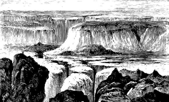 Cataract Creek vintage illustration