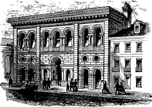 The South Carolina Institute vintage illustration