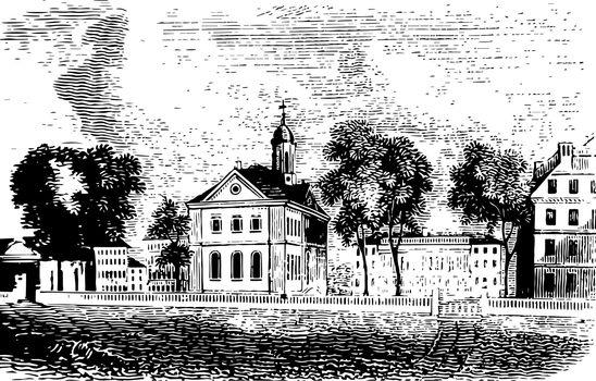 Harvard vintage illustration