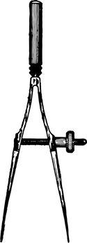 Bow Divider vintage illustration.