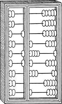 Chinese Abacus vintage illustration.