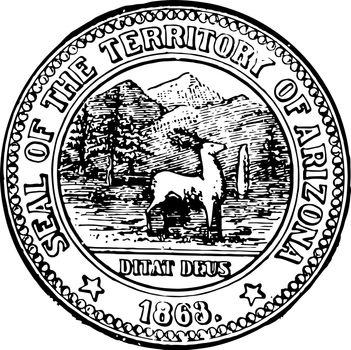 Arizona seal vintage illustration