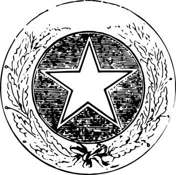Texas seal vintage illustration