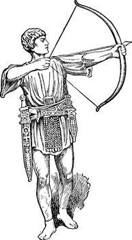 Bowman, vintage illustration.