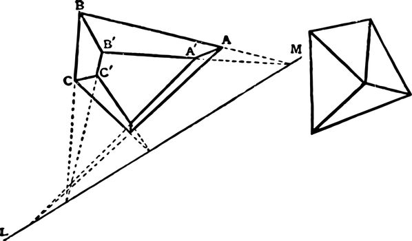 Polyhedron vintage illustration.