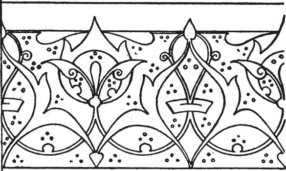 Illumination of a Koran Link Border is a scroll design of leaves