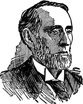 Shelby M. Cullom, vintage illustration