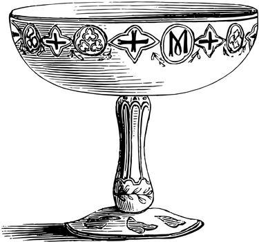 Chalice vintage illustration.