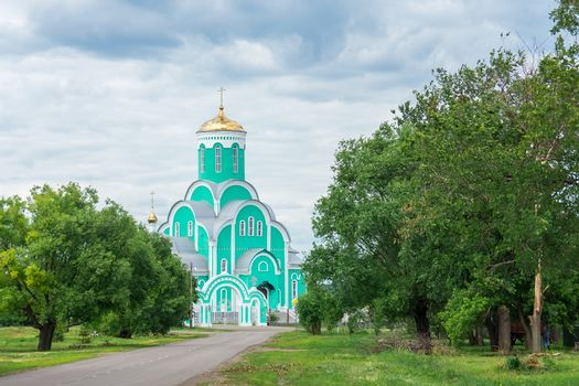 beautiful church in the Tambov region against the sky