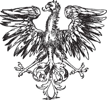 Renaissance Heraldic Eagle is a component of a heraldic display,