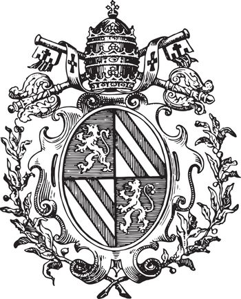 Roman Catholic Coat of Arms typically adopts within his shield s