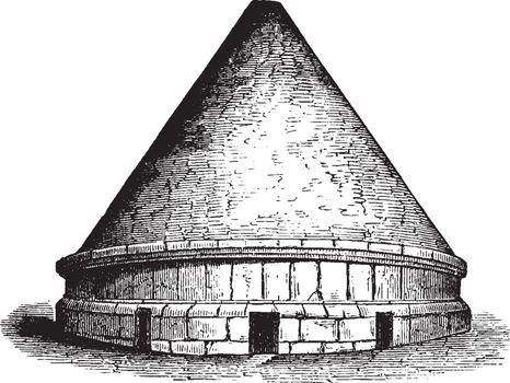 Tumuli,  most interesting monuments of Etruscan architecture, vi