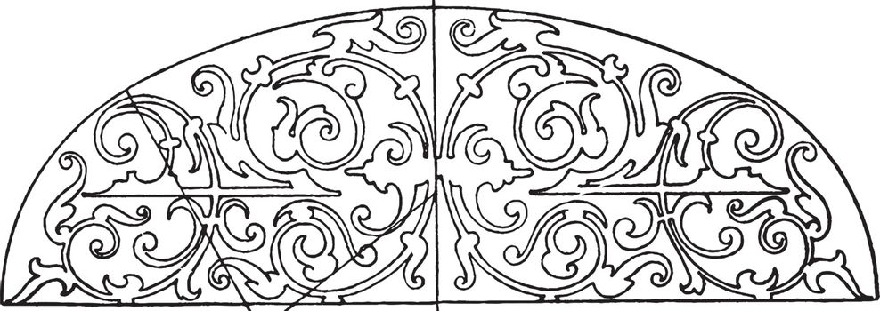 Renaissance Elliptic Panel was typically found as a design on th
