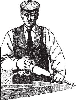 Pneumatic Chisel, vintage illustration.