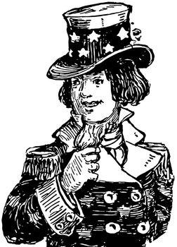Uncle Sam vintage illustration.