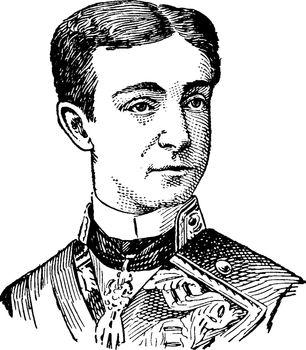 Alfonso XII, vintage illustration