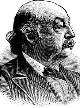 Benjamin Franklin Butler, vintage illustration
