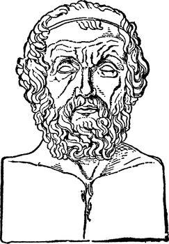 Homer, vintage illustration