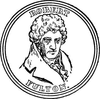 Robert Fulton, vintage illustration
