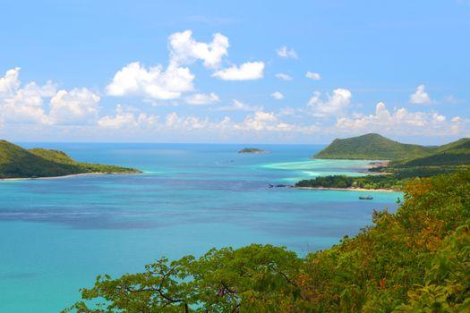 Heaven of blue seascape at Samaesan Island Chonburi at Thailand.
