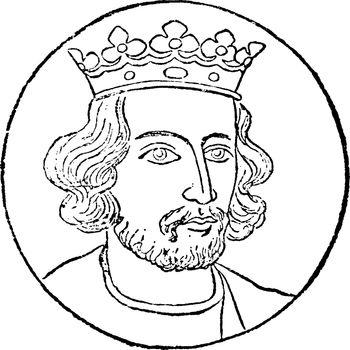 Henry III, vintage illustration