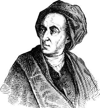 Alexander Pope, vintage illustration