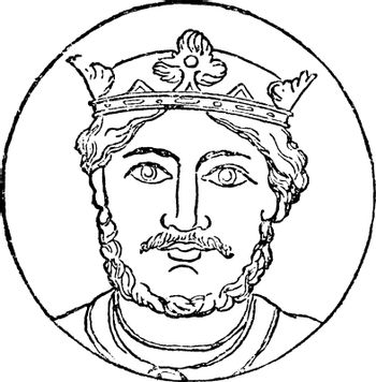 Richard I, vintage illustration