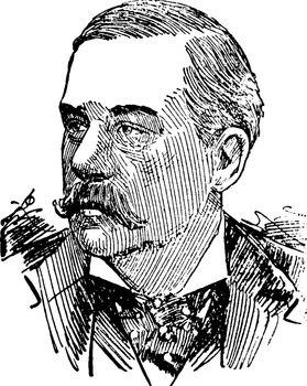 Pierpont Morgan, vintage illustration