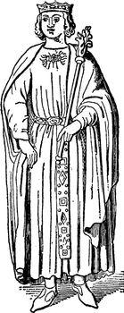King Richard I, vintage illustration