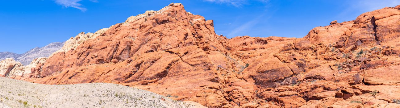 Red Rock Canyon National Conservation Area in Las Vegas Nevada USA Panorama