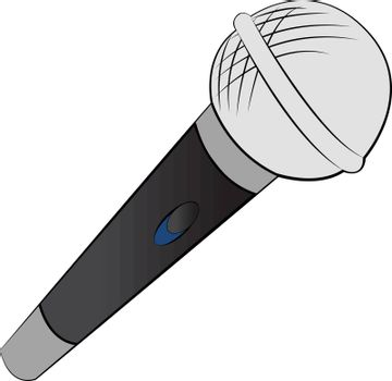 A microphone speaker with on and off button generally used for public addressing vector color drawing or illustration