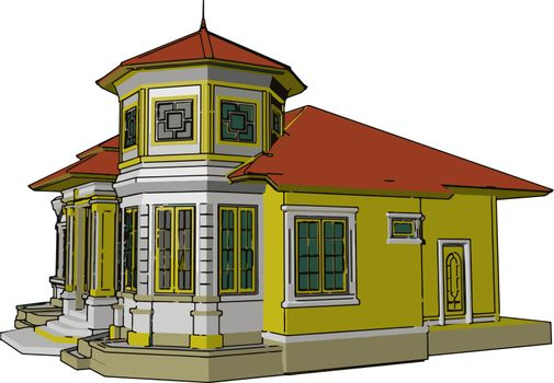 Basic component of home vector or color illustration