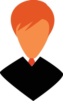 Boy in formal wear and neck tie vector or color illustration