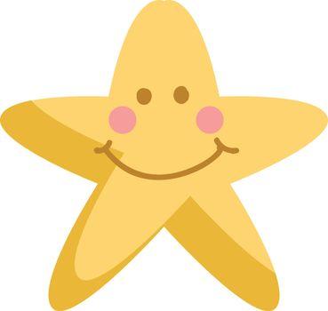 Surprised blinking star vector or color illustration