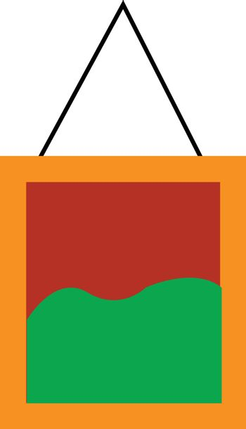 A painting vector or color illustration