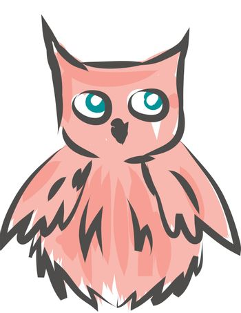 A peach colored feathered vector or color illustration