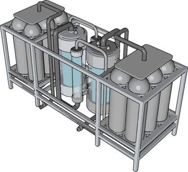 Temperature controlled storage containersfor liquid vector illus