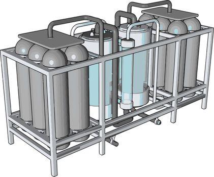 Temperature controlled storage containers for liquid vector illu